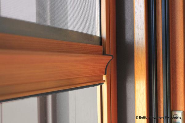 Zanzariera clic clak barra maniglia legno